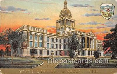 cap002359 - State Capitol Lincoln, Nebraska, USA Postcard Post Card