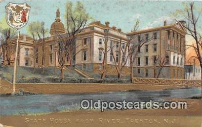 cap002366 - State House from River Trenton, NJ, USA Postcard Post Card