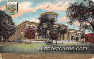 cap002372 - State Capitol Columbus, Ohio, USA Postcard Post Card