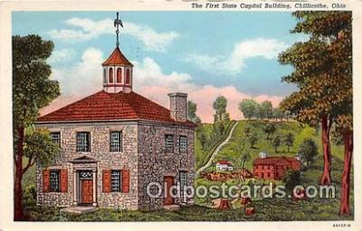 cap002385 - First State Capitol Building Chillicothe, Ohio, USA Postcard Post Card