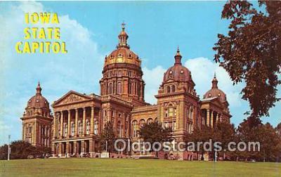 cap002393 - Iowa State Capitol Des Moines, Iowa, USA Postcard Post Card