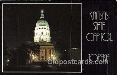 cap002402 - Kansas State Capitol Topeka, Kansas, USA Postcard Post Card