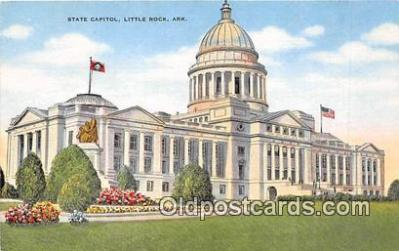 cap002407 - State Capitol Little Rock, Arkansas, USA Postcard Post Card