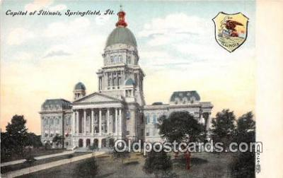 cap002409 - Capitol of Illinois Springfield, Illinois, USA Postcard Post Card