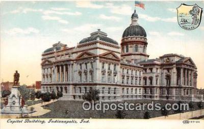 cap002411 - Capitol Building Indianapolis, Indiana, USA Postcard Post Card