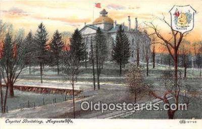 cap002414 - Capitol Building Augusta, ME, USA Postcard Post Card