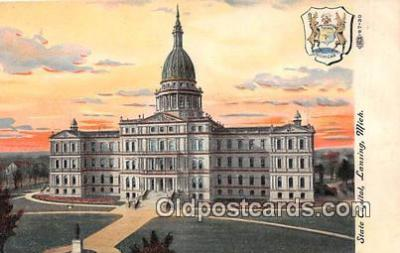 cap002416 - State Capitol Lansing, Mich, USA Postcard Post Card
