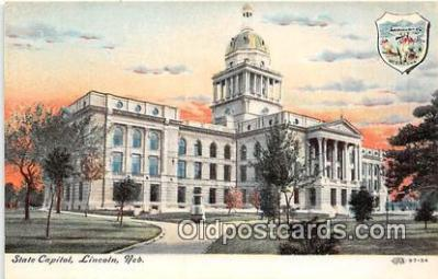 cap002419 - State Capitol Lincoln, Nebraska, USA Postcard Post Card