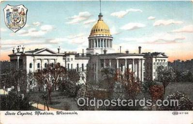 cap002420 - State Capitol Madison, Wisconsin, USA Postcard Post Card
