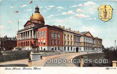 cap002438 - State House Boston, Mass, USA Postcard Post Card