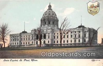cap002447 - State Capitol St Paul, Minn, USA Postcard Post Card
