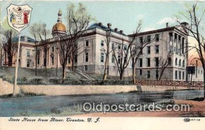 cap002461 - State House from River Trenton, NJ, USA Postcard Post Card