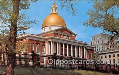 cap002469 - State Capitol Boston, Mass, USA Postcard Post Card