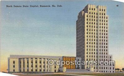 cap002471 - North Dakota State Capitol Bismarck, ND, USA Postcard Post Card