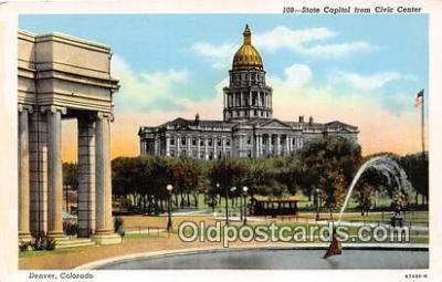 cap002482 - State Capitol & Civic Center Denver, Colorado, USA Postcard Post Card