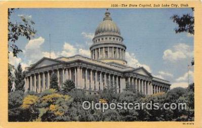 cap002487 - State Capitol Salt Lake City, Utah, USA Postcard Post Card