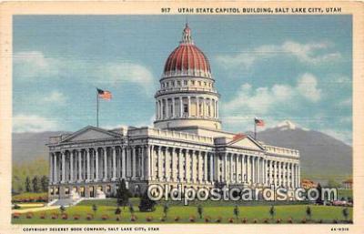 cap002490 - Utah State Capitol Salt Lake City, Utah, USA Postcard Post Card