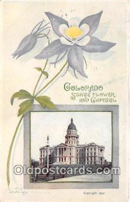 cap002503 - Columbine, State Capitol Denver, Colorado, USA Postcard Post Card