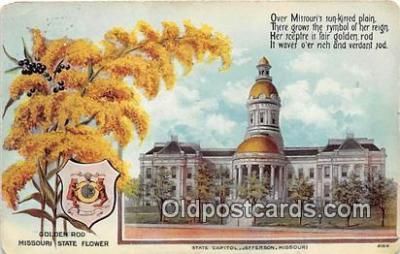 cap002511 - Goldenrod, State Capitol Jefferson, Missouri, USA Postcard Post Card