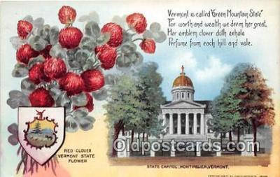 cap002518 - Red Clover, State Capitol Montpelier, VT, USA Postcard Post Card