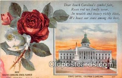 cap002525 - Rose, State Capitol Columbia, SC, USA Postcard Post Card