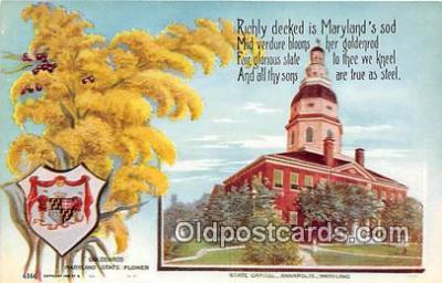 cap002530 - Goldenrod, State Capitol Annapolis, MD, USA Postcard Post Card