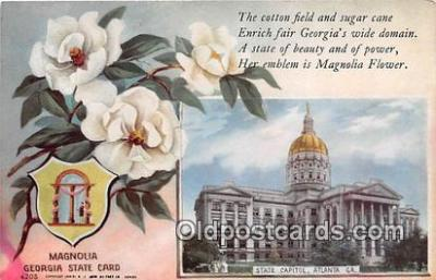 cap002541 - Magnolia, State Capitol Atlanta, GA, USA Postcard Post Card