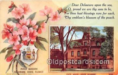 cap002542 - Peach Blossom, State House Dover, Delaware, USA Postcard Post Card