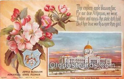 cap002545 - Apple Blossom, State Capitol Little Rock, Arkansas, USA Postcard Post Card