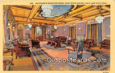 cap002550 - Governor's Reception Room, Utah State Capitol Salt Lake City, Utah, USA Postcard Post Card