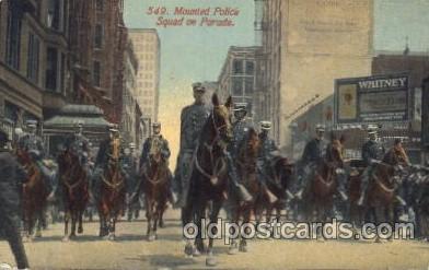 car001004 - Mounted Police Carnival Parade, Parades Postcard Post Card