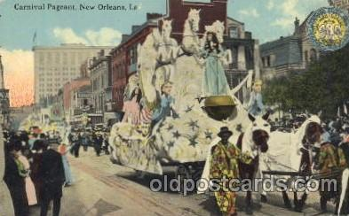 car001007 - Carnical Pageant,New Orleans, Louisina, La, USA New Orleans Carnival Parade, Parades Postcard Post Card