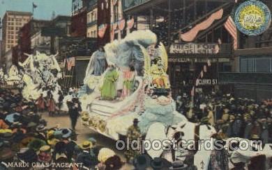 car001014 - Mardi Gras Pegeant Carnival Parade, Parades Postcard Post Card
