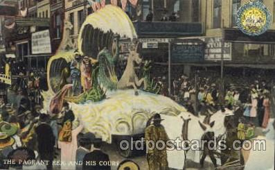 car001016 - The Pageant Rex Carnival Parade, Parades Postcard Post Card
