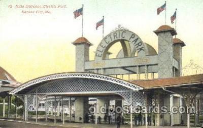 car001023 - Electric Park, Kansas City, Missouri, Mo, USA Kansas Carnival Parade, Parades Postcard Post Card