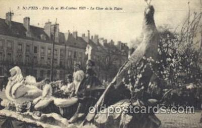 car001040 - Nantes France, located on the Loire River Carnival Parade, Parades Postcard Post Card