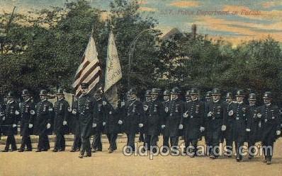 car001054 - Police  Carnival Parade, Parades Postcard Post Card