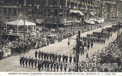 car001057 - Modern Woodman Parade, Buffalo, New York, N.Y., USA 1911 Carnival Parade, Parades Postcard Post Card