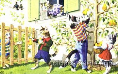 cat000081 - Artist Alfred Mainzer, Cat, Cats  Postcard Post Card