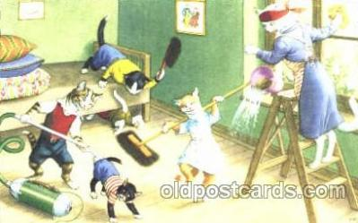 cat000100 - Artist Alfred Mainzer, Cat, Cats  Postcard Post Card