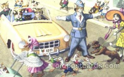 cat000112 - Artist Alfred Mainzer, Cat, Cats  Postcard Post Card