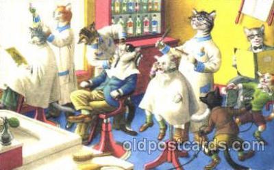 cat000115 - Artist Alfred Mainzer, Cat, Cats  Postcard Post Card