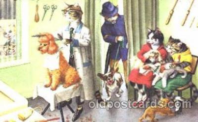 cat000149 - Artist Alfred Mainzer, Cat, Cats  Postcard Post Card