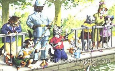 cat000166 - Artist Alfred Mainzer, Cat, Cats  Postcard Post Card