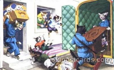 cat000168 - Artist Alfred Mainzer, Cat, Cats  Postcard Post Card