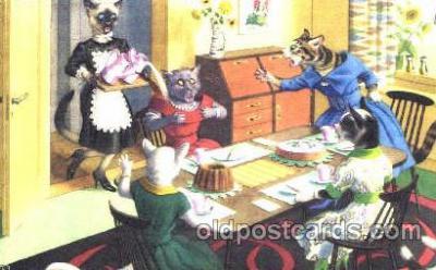 cat000175 - Artist Alfred Mainzer, Cat, Cats  Postcard Post Card