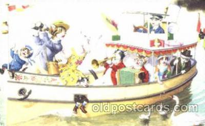 cat000181 - Artist Alfred Mainzer, Cat, Cats  Postcard Post Card
