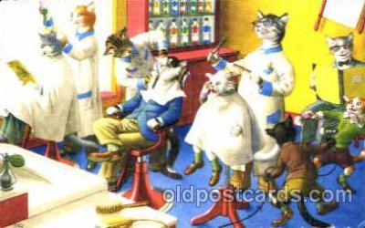 cat000188 - Artist Alfred Mainzer, Cat, Cats  Postcard Post Card