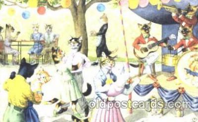 cat000194 - Artist Alfred Mainzer, Cat, Cats  Postcard Post Card