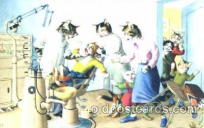 cat000195 - Artist Alfred Mainzer, Cat, Cats  Postcard Post Card
